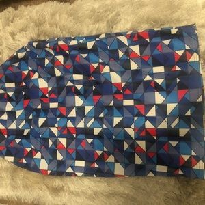 Aztec Grid Midi Skirt